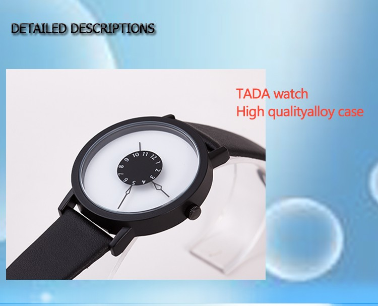new women special turntable simple dial japan quartz watch leather strap Waterproof tada brand fashion relojes hombre mens watch