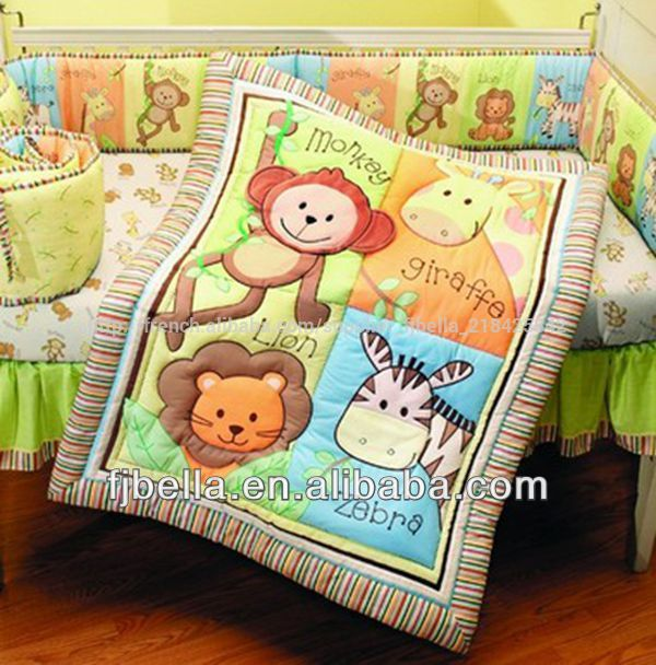 Infantile 4 Piece Singe Collection Jungle Ensemble Berceau Lit