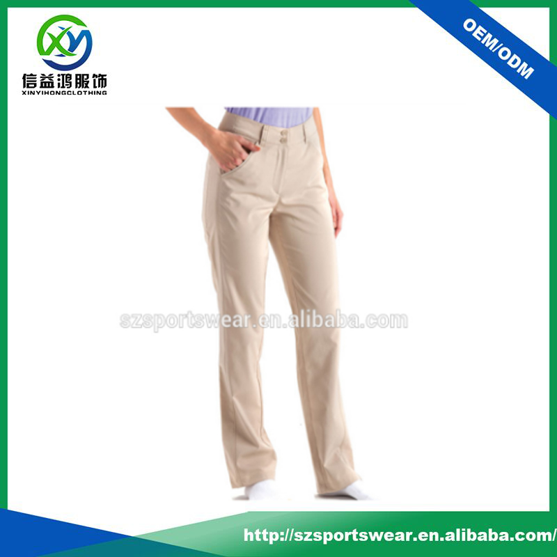 2-button zip fly back welt pockets high quality golf Pants