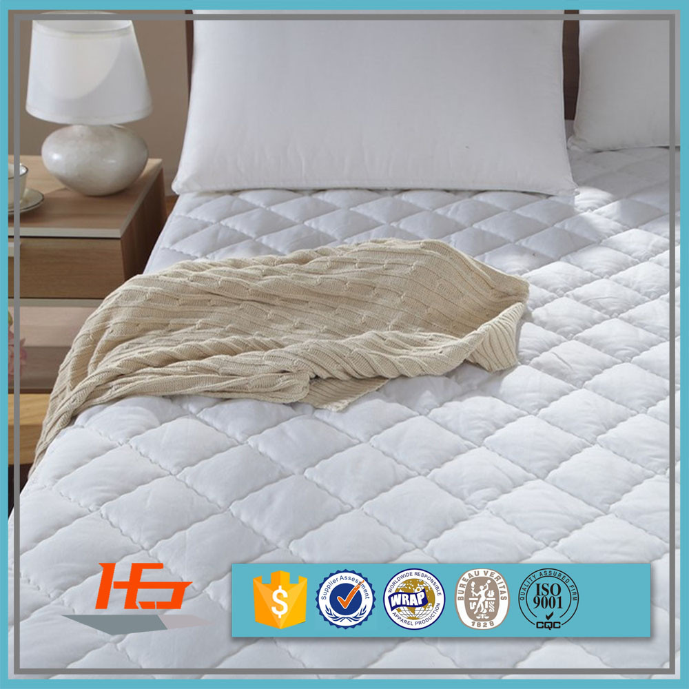 Quilted Waterproof Mattress Protector For Hotel Twin Size Bed