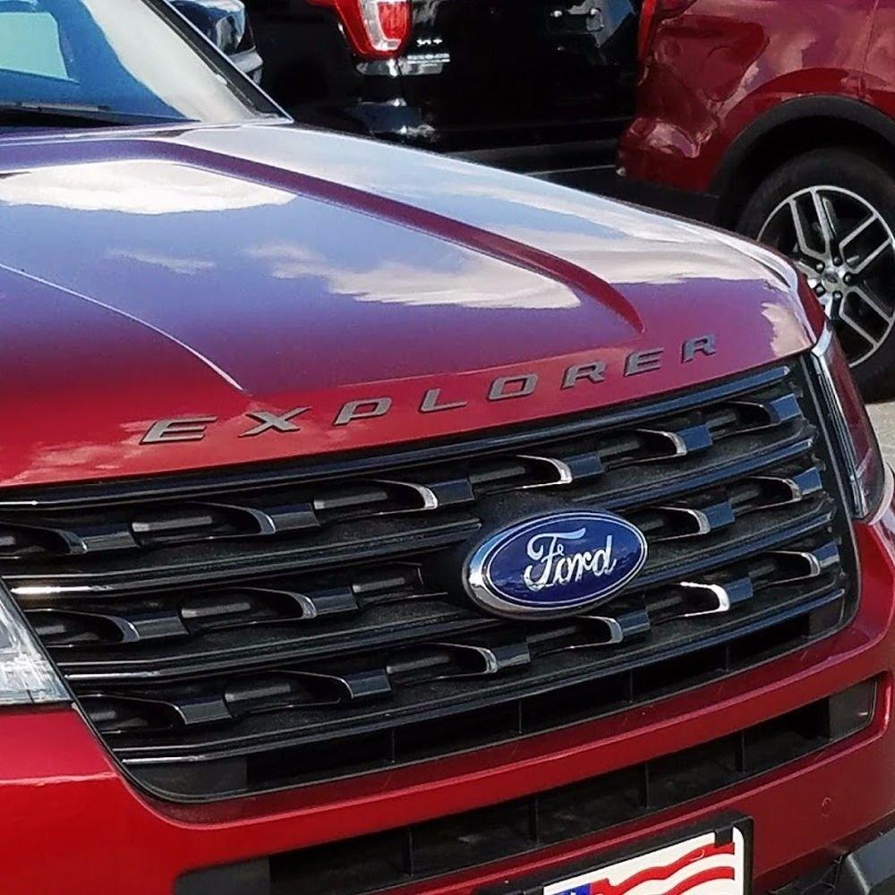 NEW Ford Licensed 2011-2017 Ford Explorer Sport GRAPHITE Hood Letters Emblem