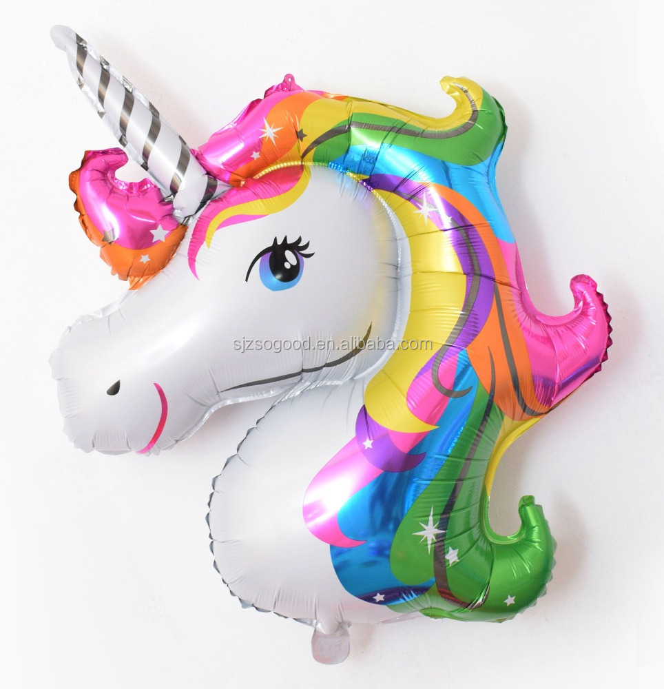 Hot Sale Big Size Unicorn Helium Foil Balloons For Party Toys Animal Shaped Balloon
