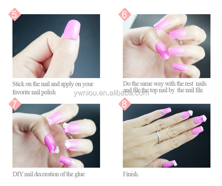 Whole Price 500pcs French White New Style C Curve Nail Tips