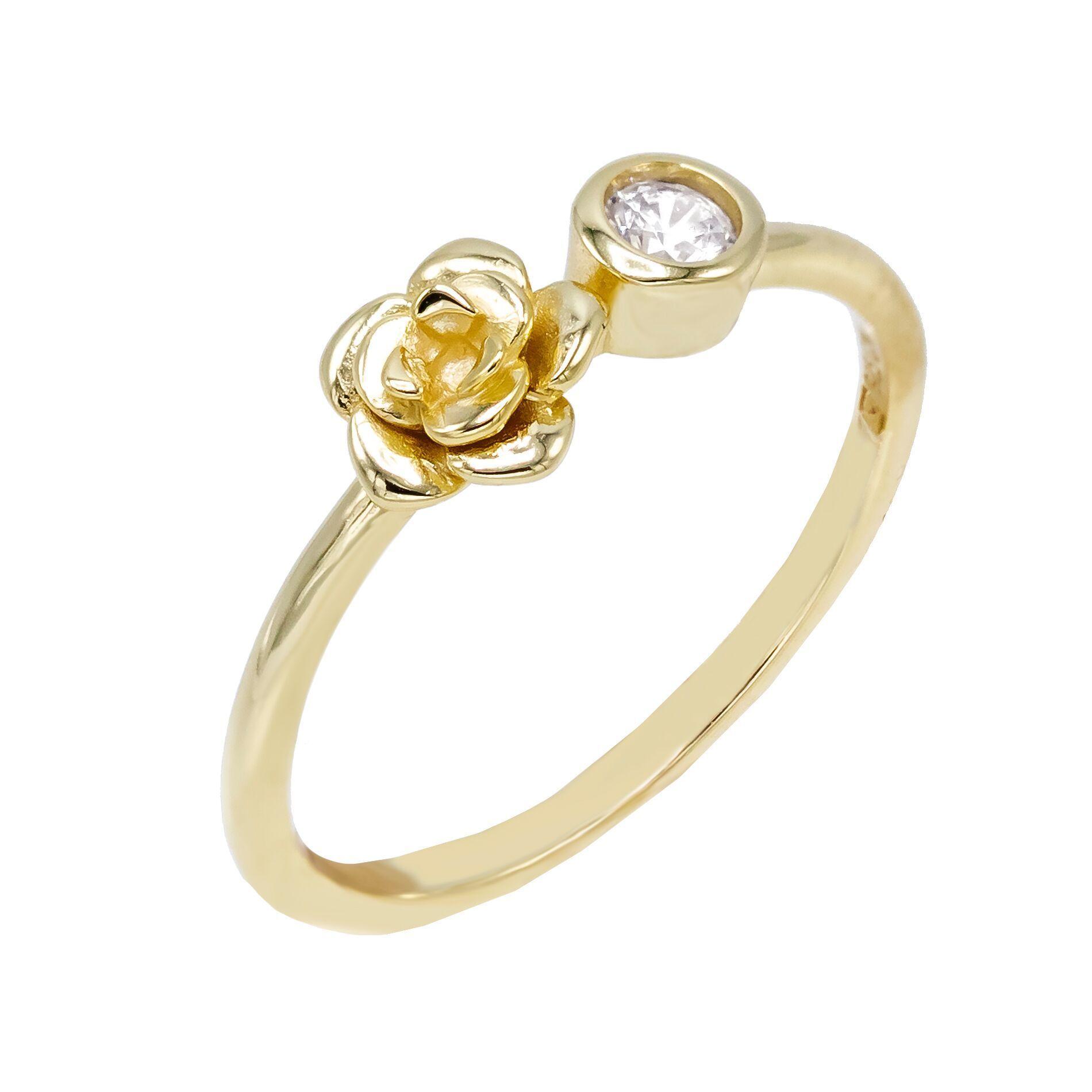 f0766cc02499 Lozrunve Turco De La Joyería De Plata 925 De La Cz Bisel Piedra Forma De  Rosa Anillo De Oro - Buy Anillo De Oro