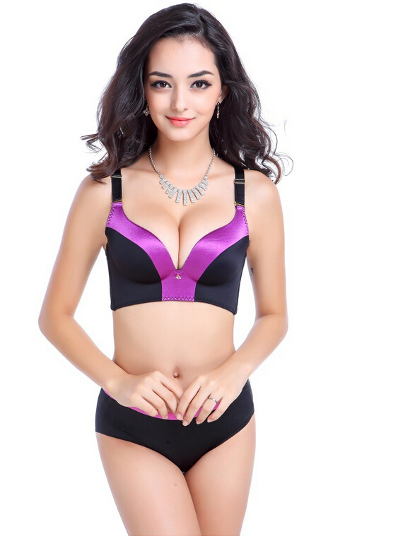 2015 New Sexy Seamless Bra Gather Adjustable Women Bralette Seamless Push Up Bra  Summer Style