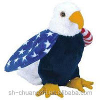 stuffed american eagle symbol plush cute toys