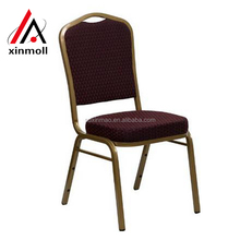 Cheap Price steel aluminium stackable hotel hall banquet chair for wedding