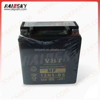 HAISSKY motorcycle spare parts factory price Maintenance Free Motorcycle Battery 12V12ah