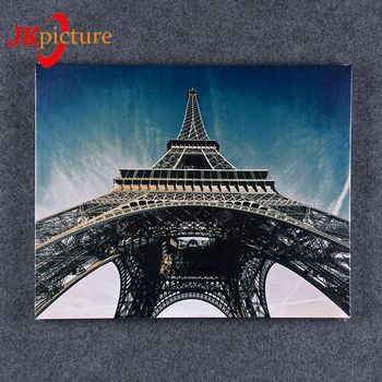 Modern Picture No frame Canvas Painting Living Room Decoration chinese wall  3d decorative  paris eiffel tower oil painting