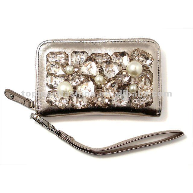 wholesale handmade rhinestones pu leather mobile phone case for iphone