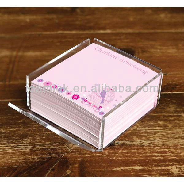 Bird Cage Memo Cube Acrylic Holder