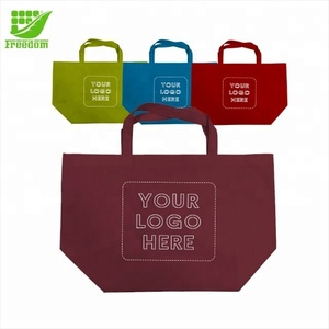 80 gram non-woven polypropylene large reusable custom shopper tote bag with handles