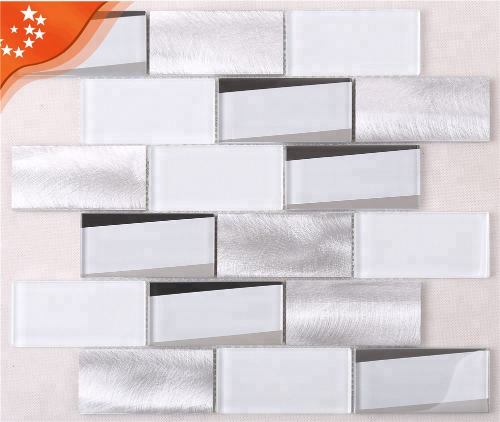 Hmb12 Decorative 12x12 Kitchen Backsplash Mosaic Glitter Beveled Glass  Subway Tiles White - Buy Subway Tile,Kitchen Backsplash,Decorative 12x12 ...