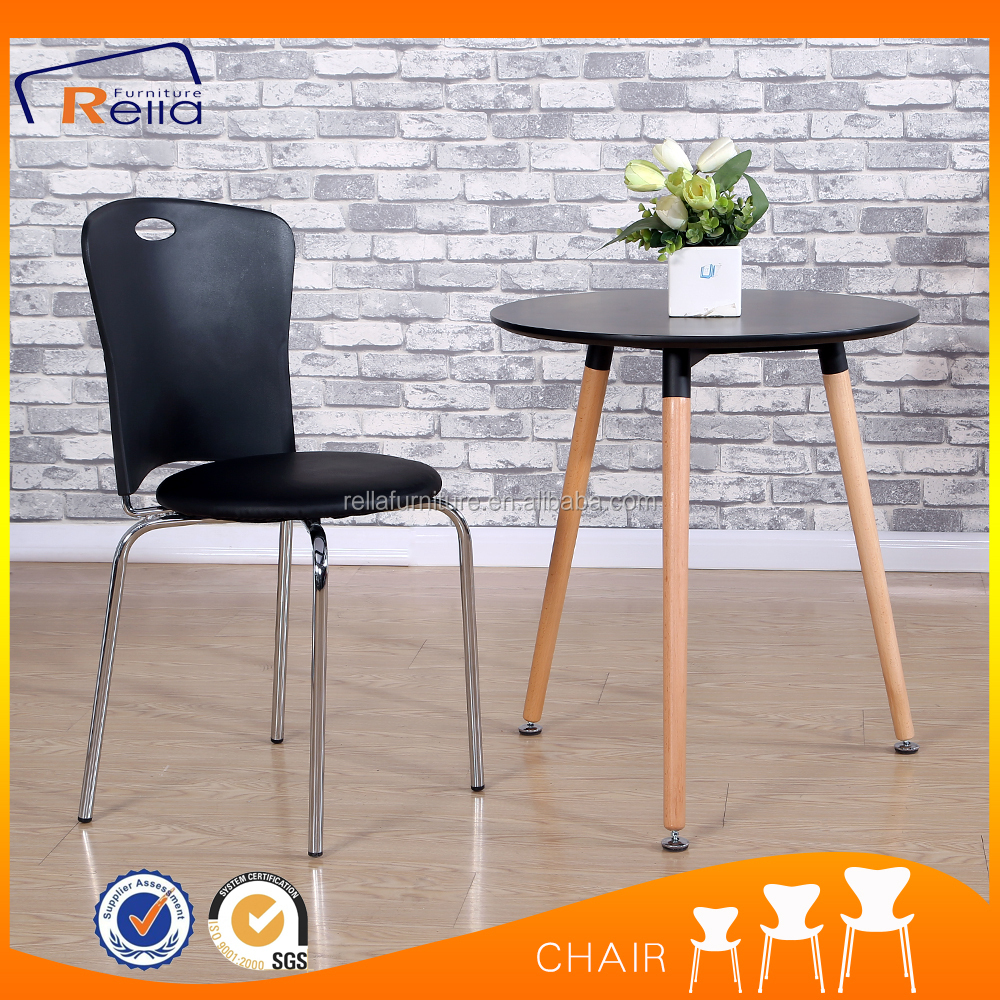 Cheap hanging stackable iron frame dinning chair
