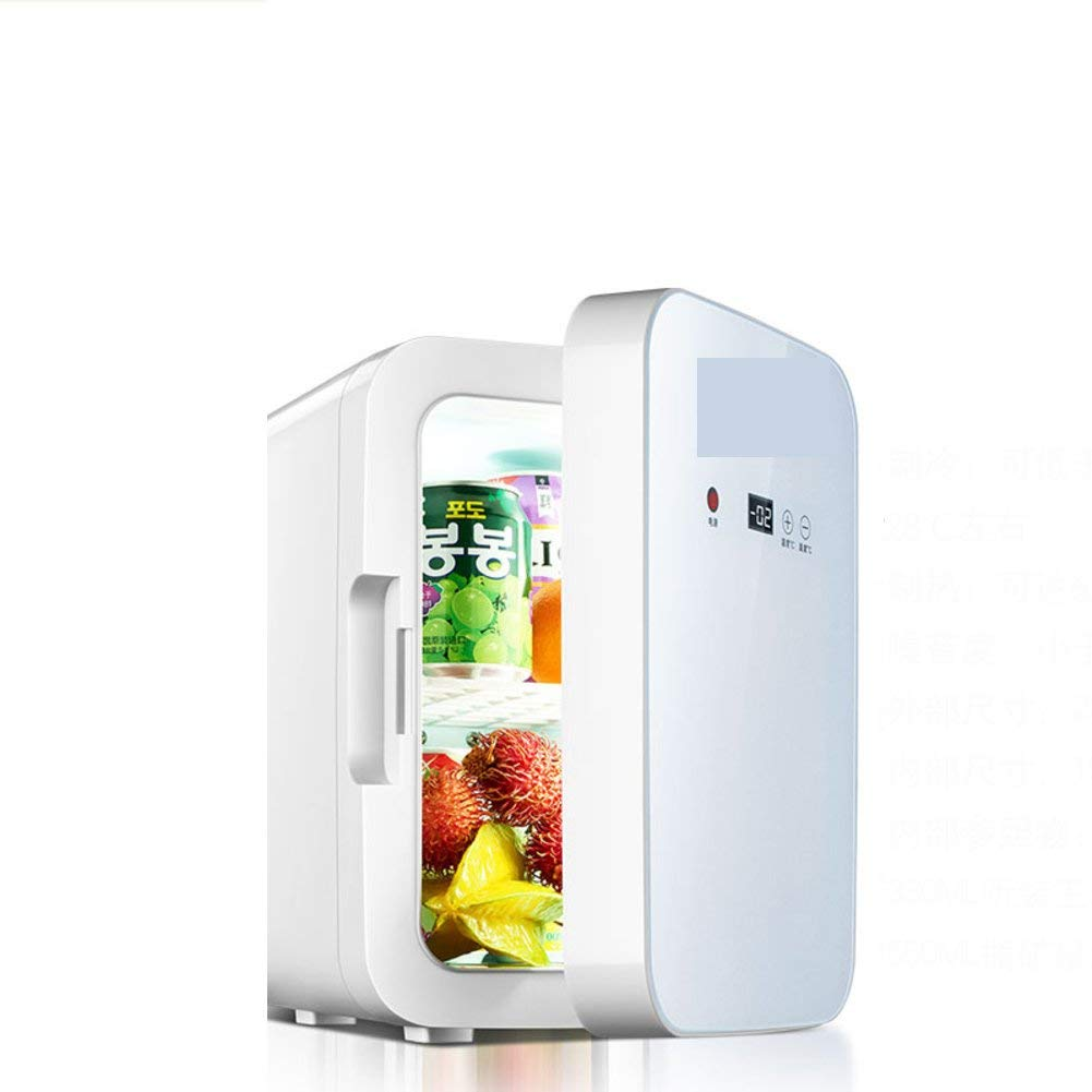 SL&BX Mini kühlteil,8l car refrigerator insulin refrigeration small home dormitory mini refrigerator mini compact refrigerator-White 28x20x31.5cm(11x8x12inch)