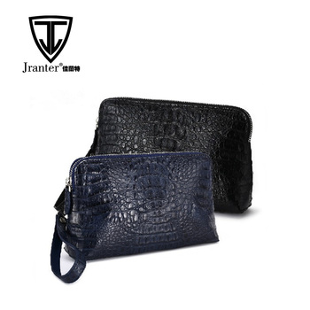 Leather Handbags for Men Crocodile Leather Bag Clutch Bag Men Handmade Leather Clutch