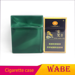 Super customized color plastic cigarette case green color
