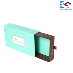 cardboard drawer sliding gift bow tie kraft paper packaging boxes