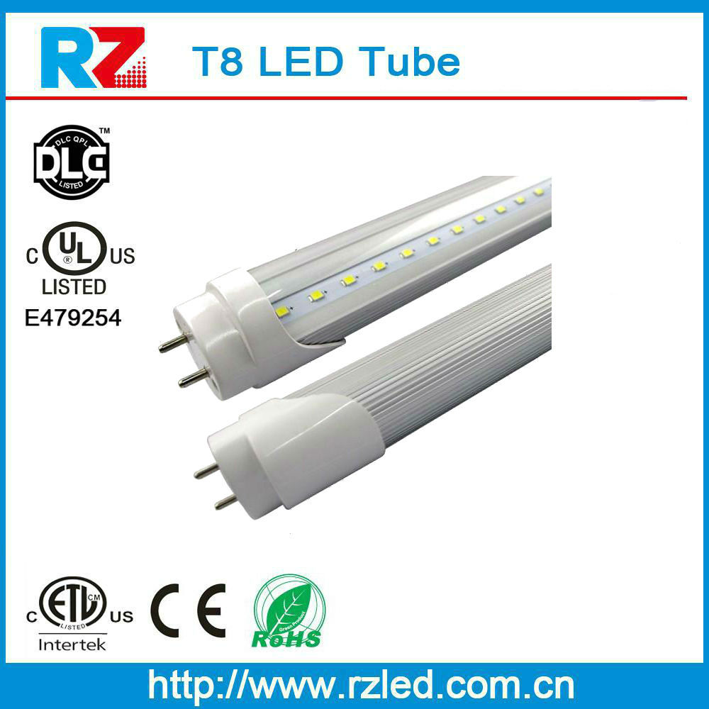 DLC UL Listed Enco-friendly design easy Recycle/dispose 4 foot 18W T8 LED Light Bulbs