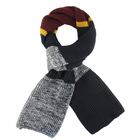 mens acrylic fashion colorful striped long knitted scarf