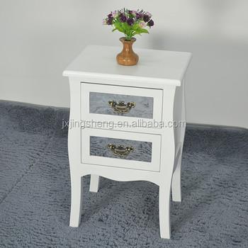 Nachttisch Aus Holz Im Shabby-chic-stil Aus Mdf Mit 2 Grauen Retro ...
