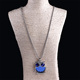 Women's Fashion Jewelry Zircon Owl Pendant Sweater Clavicle Necklace