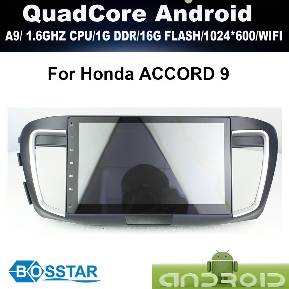A9 quad cord ORIGINAL OEM Android car radio gps for HONDA ACCORD 9 with wifi,bluetooth,16g inand FREE IGO MAP