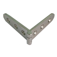 mirror polished stainless steel truck strap hinge