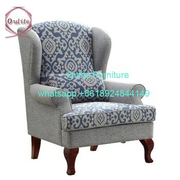Comfortable Upholstery Fabric Sofa Living Room Single Sofa Bedroom