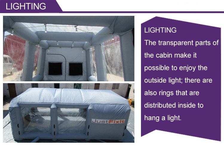 Hot sale 7.5mLx5mWx3mH Mobile Portable Inflatable Car Spray Booth cheaper