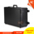 Hot selling combination lock professional rolling makeup train case with lighted mirror