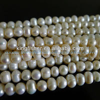 Wholesales round potato baroque freshwater pearls!! Loose strands natural cultured fresh water pearls beading!!