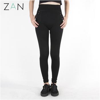 3f602bef2a4b4b Fashion balck workout leggings with pockets tight churidar legging factory