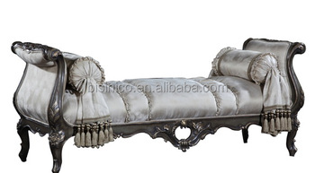 Surprising Replica French Style Palace Bedroom Furniture Carved Wood Chaise Lounge Luxury Upholstery Leisure Beach Buy Elegant Wood Carved Bed Bench Classic Machost Co Dining Chair Design Ideas Machostcouk