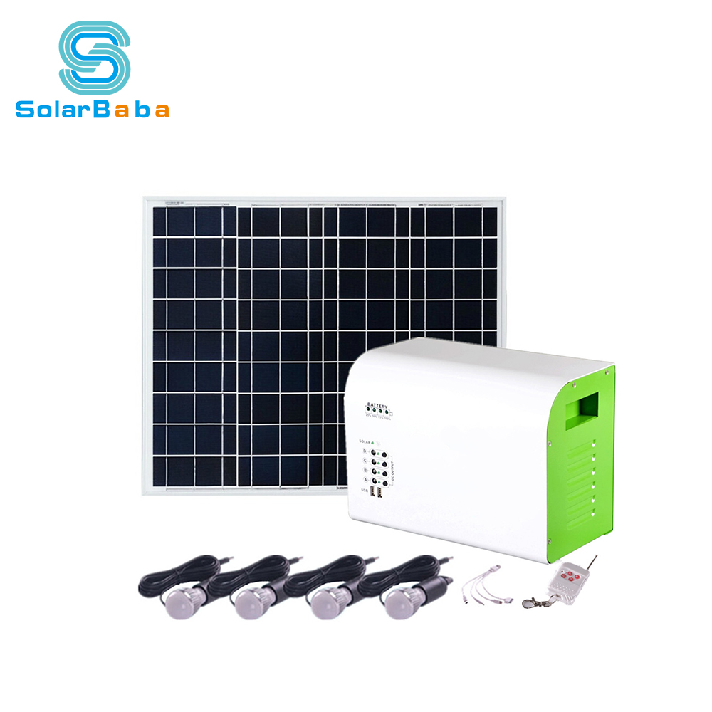 Home Use Stand Alone Portable Mini 150 Watt 12v Solar Led Lights Kit ...