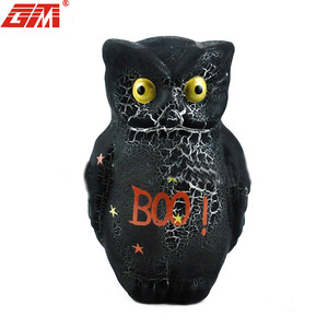 glass ornament products with led light Halloween ornaments owl fathers day gift