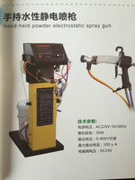 Hand-held powder electostatic spray gun