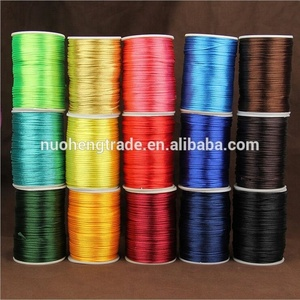 Wholesale 1mm 2mm 3mm Nylon Satin Rattail Cord Chinese Knot Beading String,Macrame Rope Bracelet Cords Accessories 80m