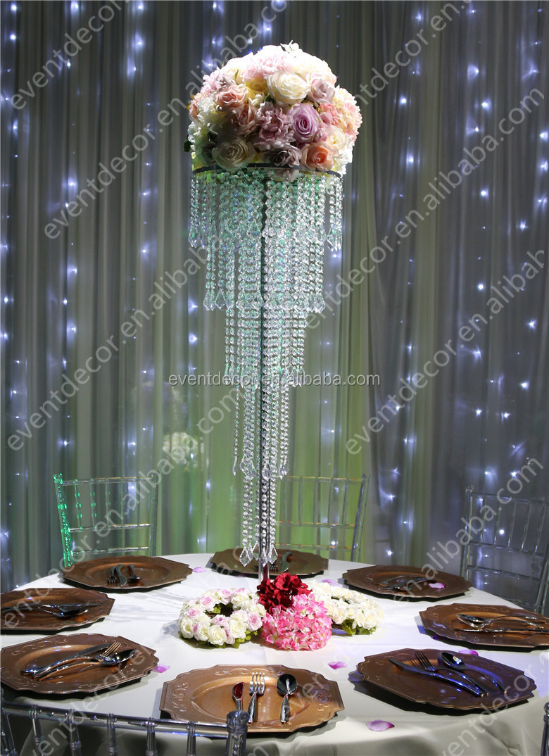 5 Tiers Crystal Centerpieces For Wedding Table Whole Centerpiece Decoration