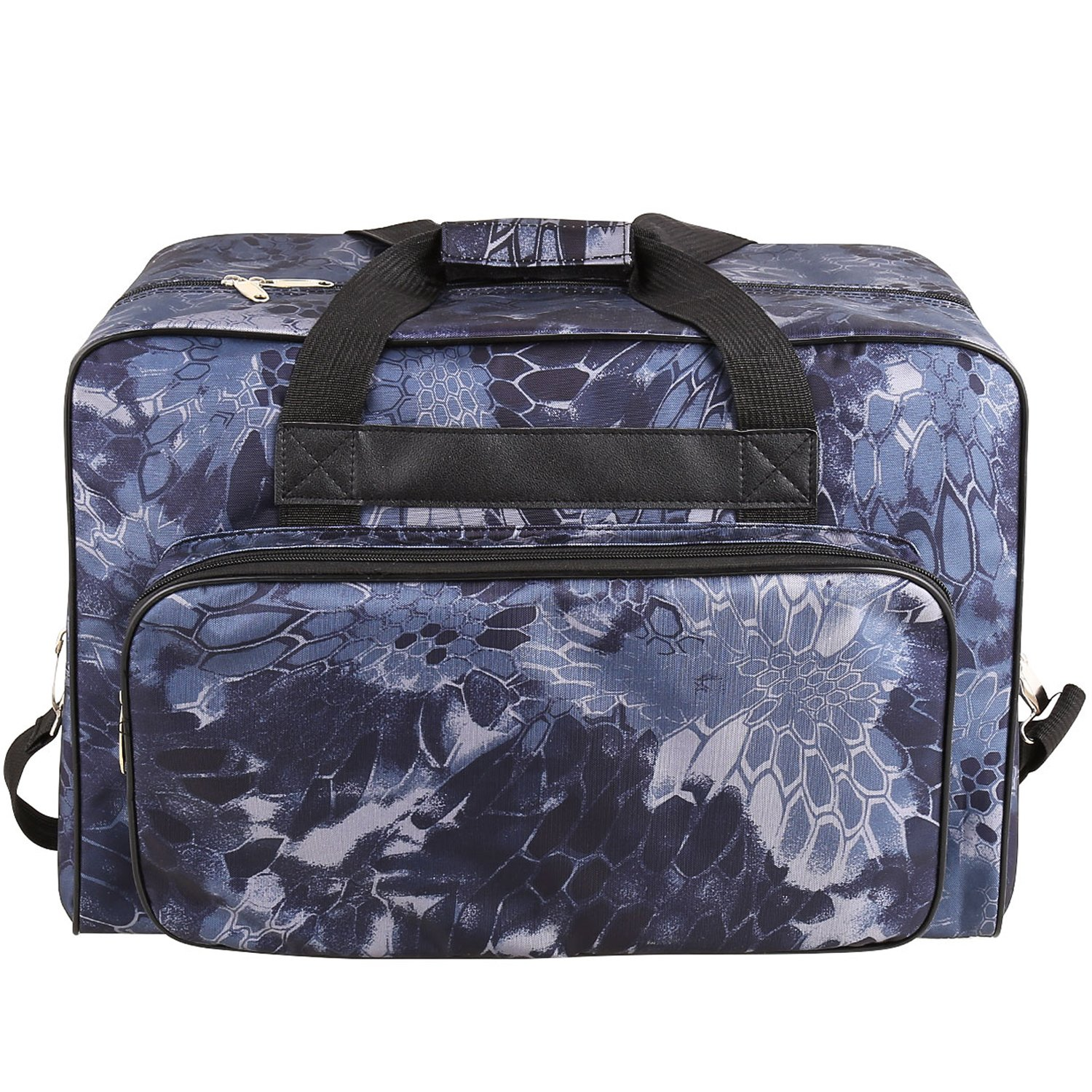 Homeself Universal Nylon Carry Bag Universal Waterproof Padded Storage Cover Carrying Case with Pockets and Handles Sewing Machine Tote Bag Blue