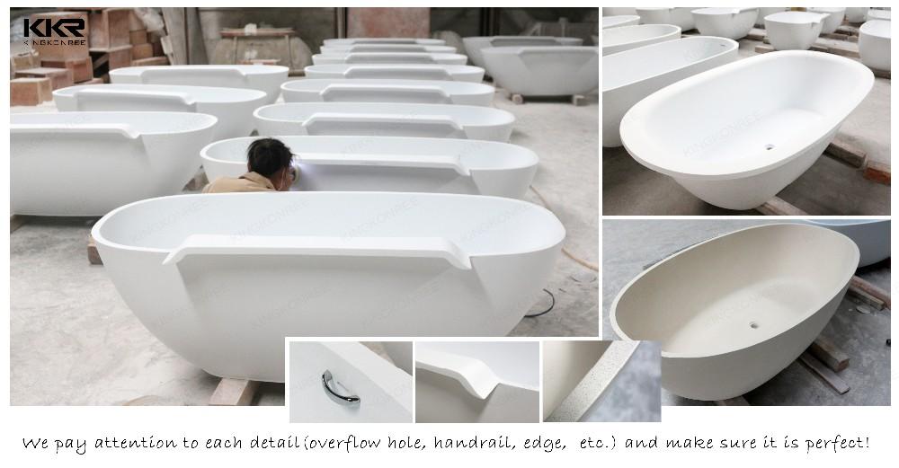 Acrylic solid surface 52 inch bathtub freestanding for Best acrylic bathtub to buy