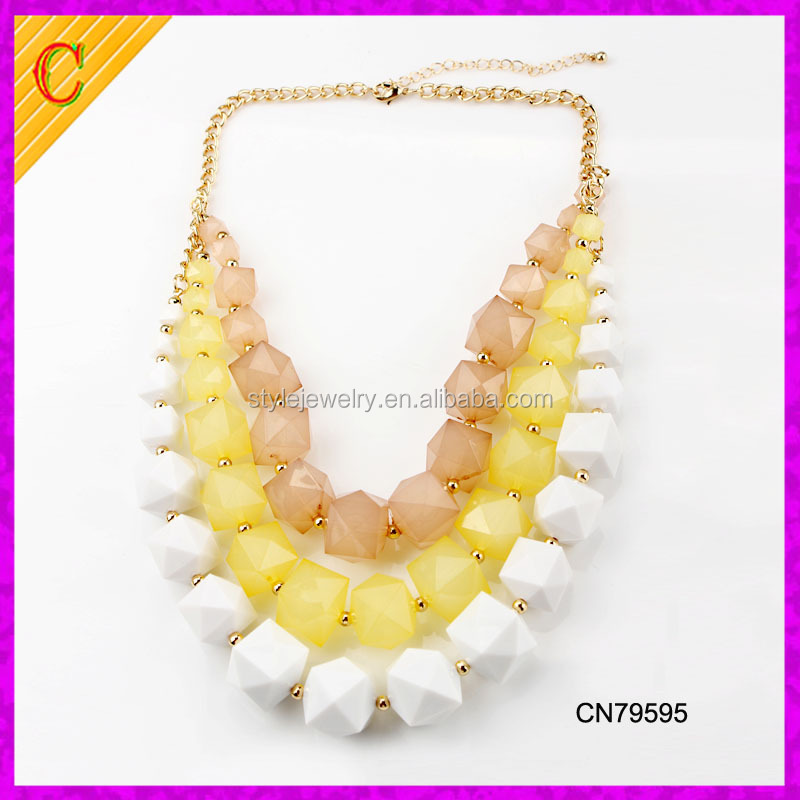 CN79595 china jewelry fashion women accessories wholesale chunky bubblegum necklace