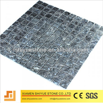 Polished Natural Blue Pearl Granite Mosaic Tile