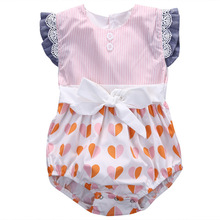 Hohe Qualität Kleinkind Flattern Overall Spitze <span class=keywords><strong>Petti</strong></span> Romper für Baby
