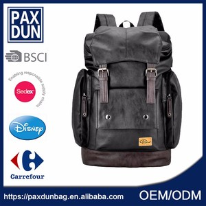 Good design daily used casual woman pu backpack