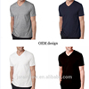 Hot sale 100 % cotton v neck t shirt men blank t-shirt cotton v-neck blank tee