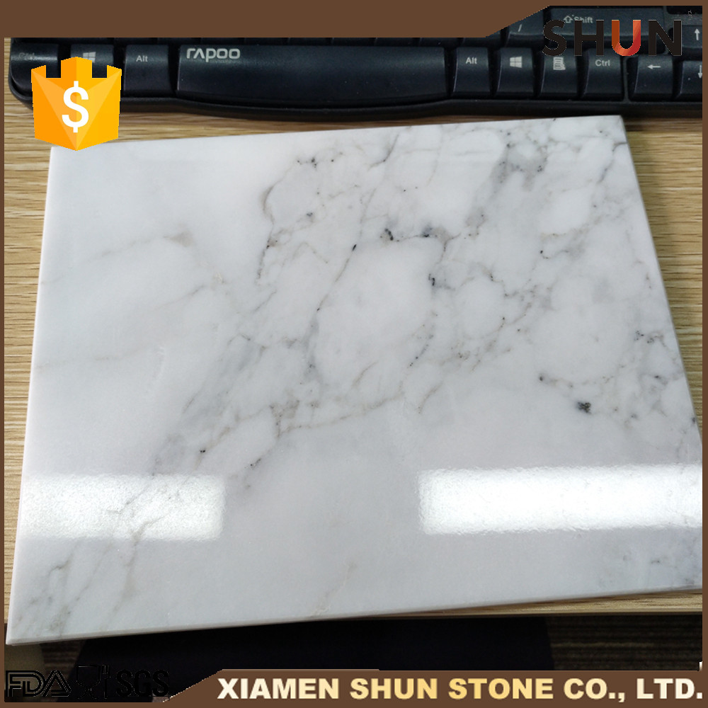 Kitchen White Marble Cutting Pastry Board Slab Thin Board