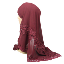 Available floral design dubai scarf hijab wholesale beaded chiffon hijab shawls from China supplier
