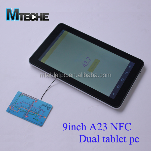 Allwinner A23 Dual Core 9inch Nfc Tablet Pc Support Nxp Card Reader - Buy  Mtk6577 Dual Core 1 2ghz,Nfc 3g Tablet,8 Inch Tablet Pc Dual Core Product  on