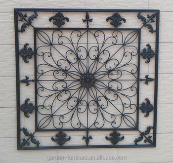 Home decorative fleur de lis wrought iron panel metal wall art home decorative fleur de lis wrought iron panel metal wall art hanging decor ppazfo